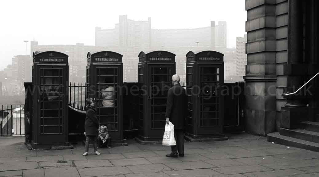 Fitzalan Square, Sheffield in 1983 - limited edition print by Chris James Photography