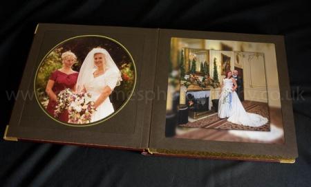Handmade leather wedding album for sale, Derbyshire