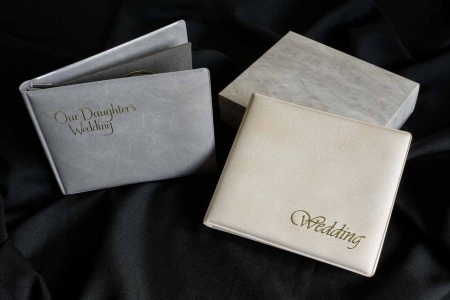 Traditional wedding albums with overlays for sale in Chesterfield, Derbyshire