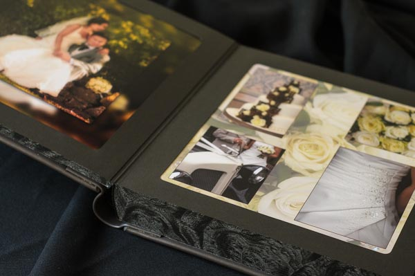 Traditional leather wedding album for sale in Derbyshire