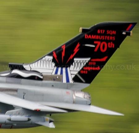 Special tail fin design on 617 Squadron Tornado ZA492 to commemorate the 70th anniversary of the Dambusters raid
