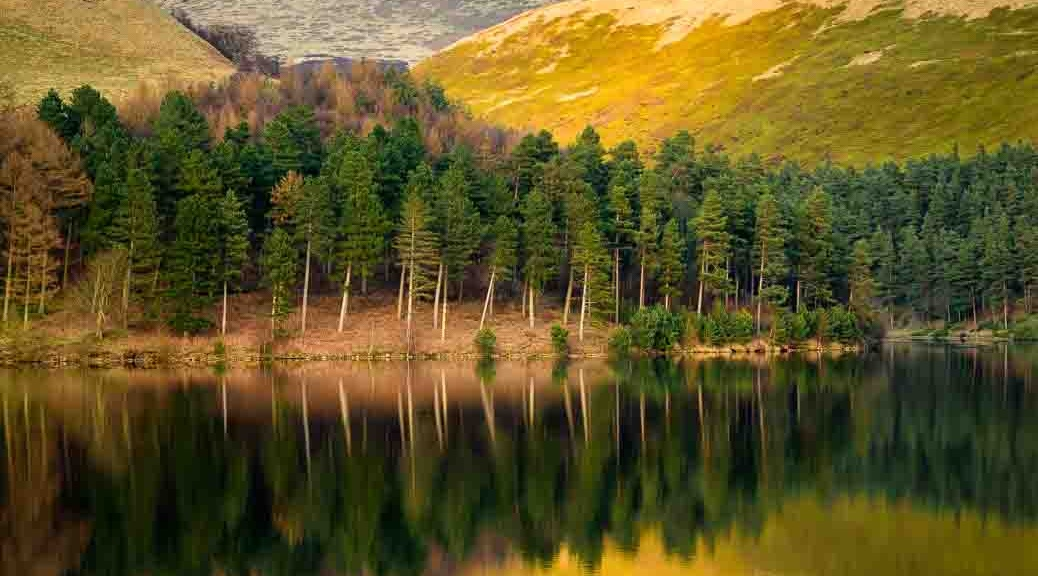 Reflections in Howden Reservoir, Peak District National Park. Photo © Chris James