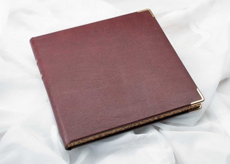 Traditional handmade leather wedding album for sale in Derbyshire